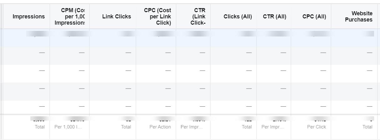 Facebook Advertising Tracking Data