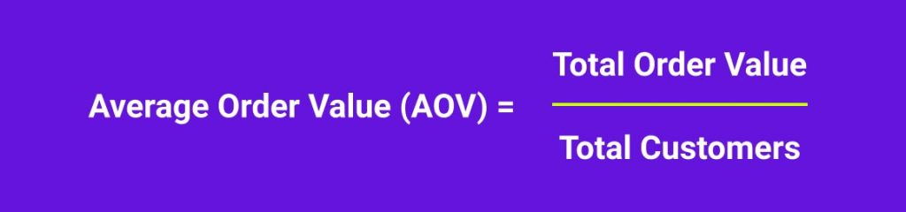 Average Order Value Equation
