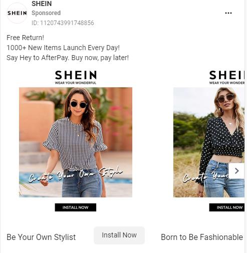 Shein Facebook Ad